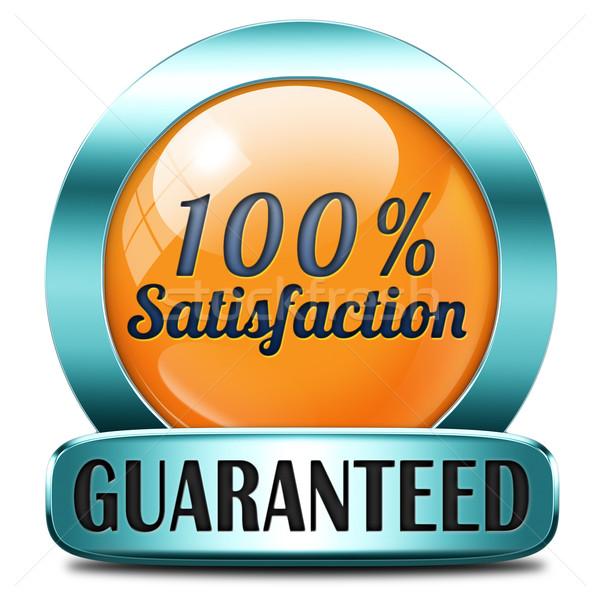 Satisfacción del cliente satisfacción servicio al cliente icono botón 100 Foto stock © kikkerdirk