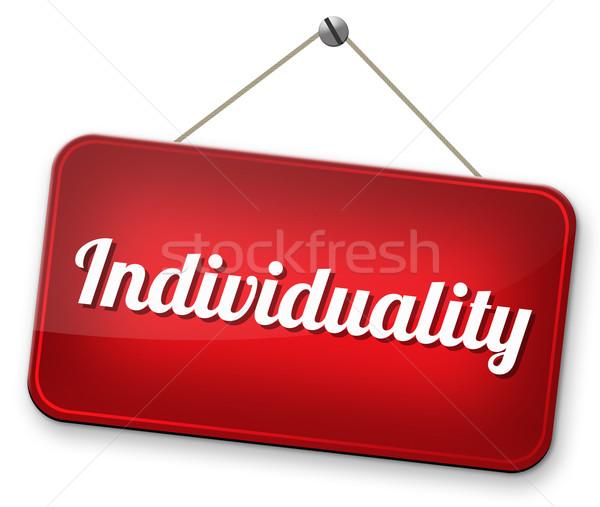 Individualiteit een persoonlijke vrijheid menigte Stockfoto © kikkerdirk
