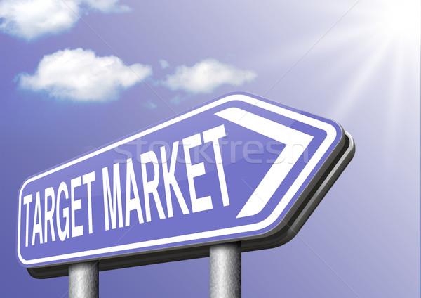 Alvo mercado negócio nicho estratégia de marketing Foto stock © kikkerdirk