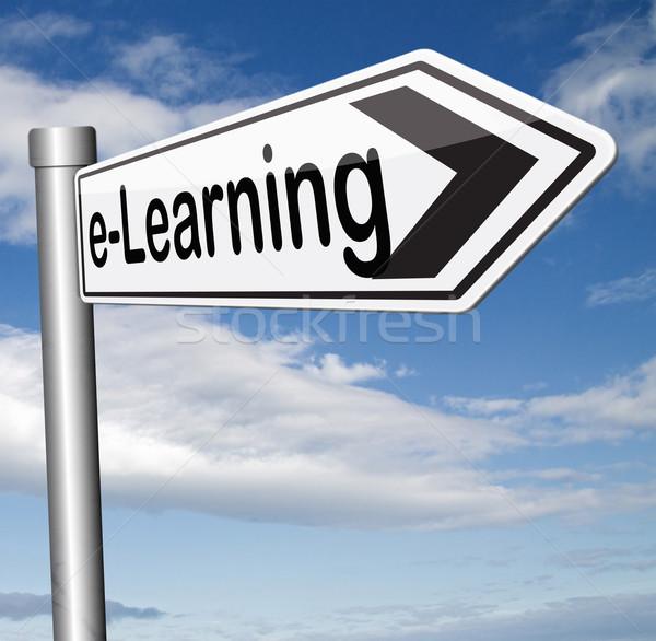 Online Internetu edukacji nauki otwarte Zdjęcia stock © kikkerdirk