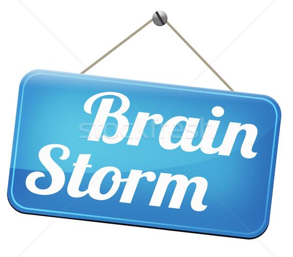 Burza mózgów zespołowej twórczej świeże pomysł rozwiązanie Zdjęcia stock © kikkerdirk