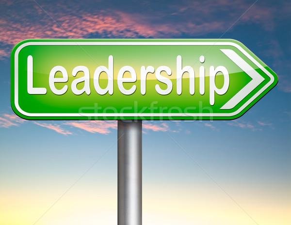 Chef d'équipe façon succès affaires leader Photo stock © kikkerdirk