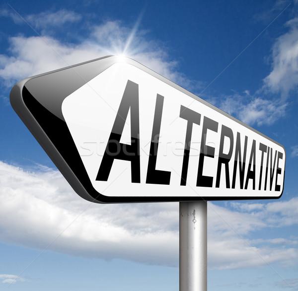 Alternativa scegliere diverso opzioni metropolitana Foto d'archivio © kikkerdirk