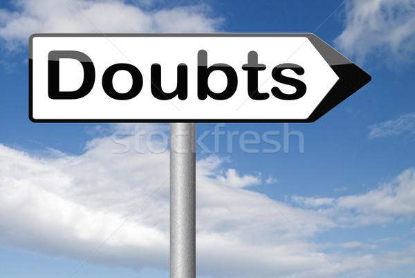 Doute doutes incertain regarder conseil pas Photo stock © kikkerdirk