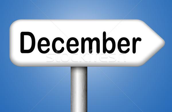 Diciembre último mes año temporada de invierno evento Foto stock © kikkerdirk