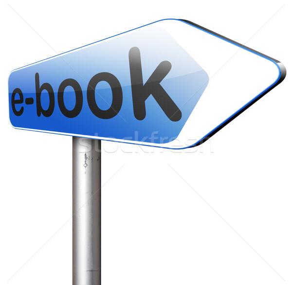 Ebook ler on-line digital eletrônico Foto stock © kikkerdirk