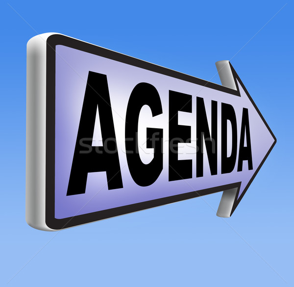 agenda Stock photo © kikkerdirk