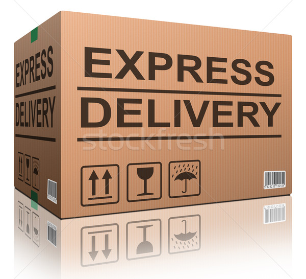 express delivery cardboard box Stock photo © kikkerdirk