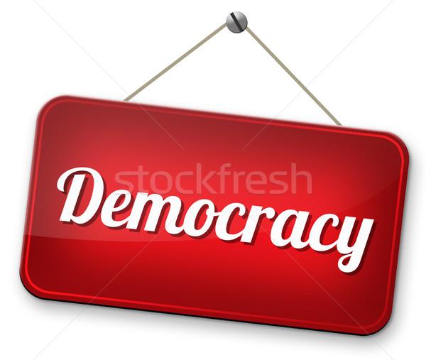 демократия политический свободу власти люди новых Сток-фото © kikkerdirk