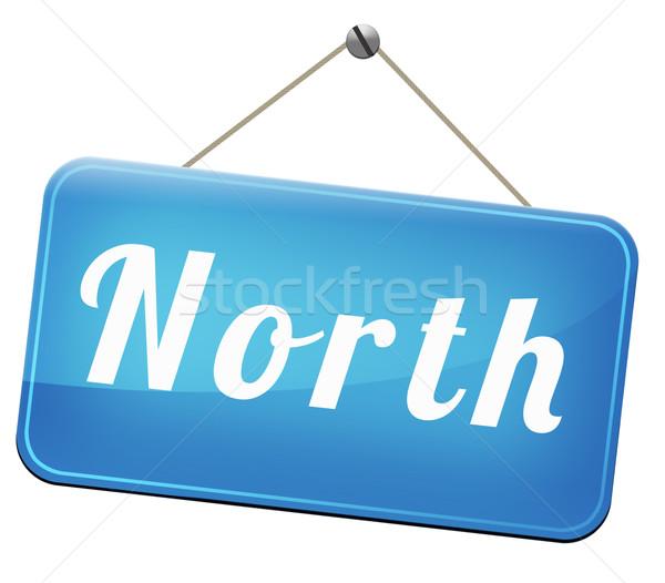 Noorden teken geografisch kompas richting noordpool Stockfoto © kikkerdirk