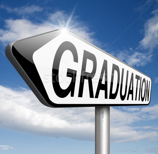 Afstuderen dag college middelbare school universiteit school Stockfoto © kikkerdirk