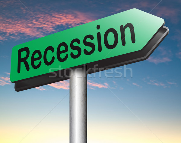 Recessão mercado de ações acidente crise banco econômico Foto stock © kikkerdirk