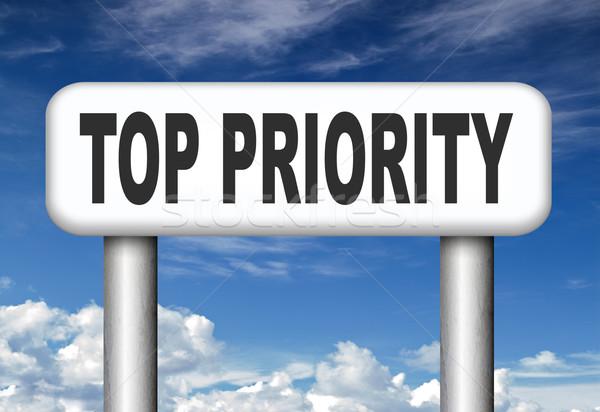 Top приоритет важный высокий срочность информации Сток-фото © kikkerdirk