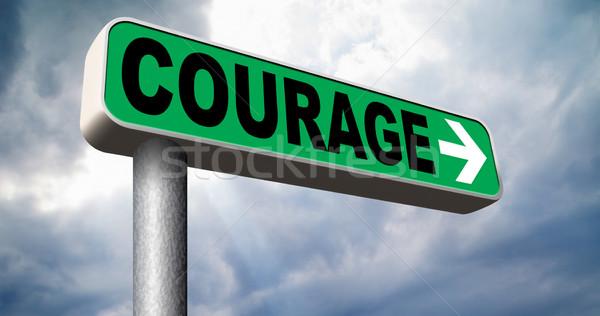 Moed vermogen angst pijn gevaar onzekerheid Stockfoto © kikkerdirk