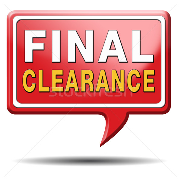 final clearance Stock photo © kikkerdirk