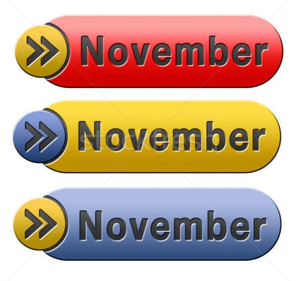november button Stock photo © kikkerdirk