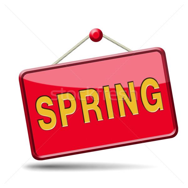 spring label Stock photo © kikkerdirk