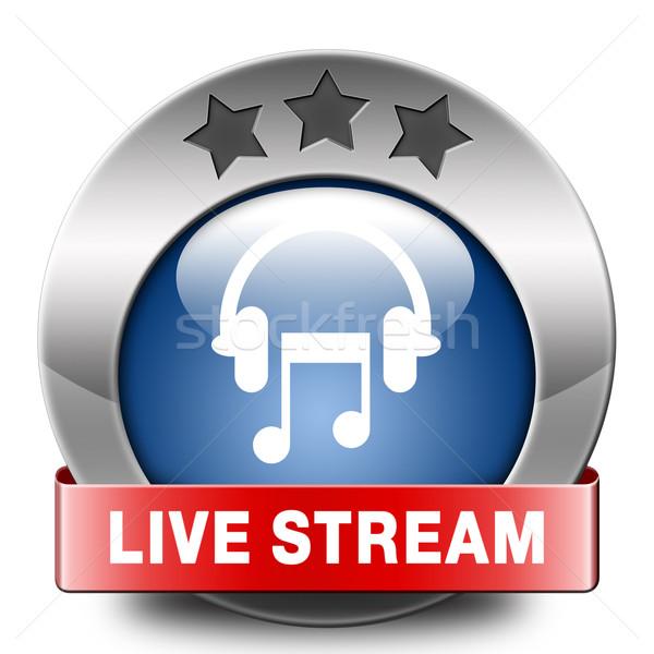 Vivere stream musica ascoltare canzone audio Foto d'archivio © kikkerdirk