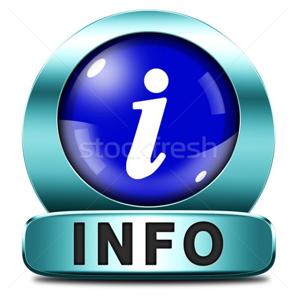 Informações ícone mais ler botão Foto stock © kikkerdirk