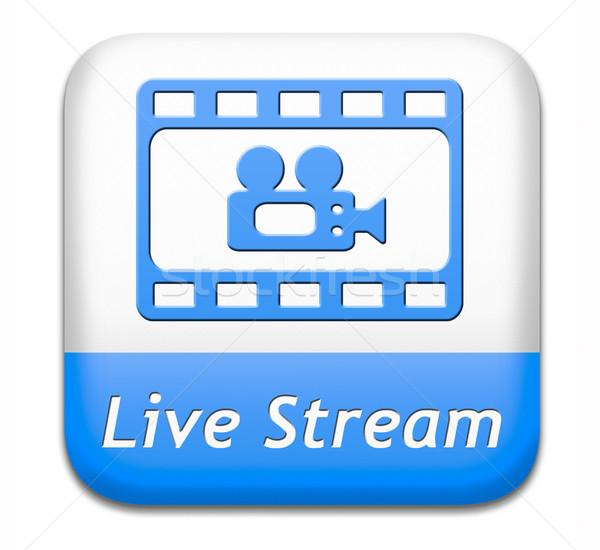 Live stream video tv film film Stockfoto © kikkerdirk