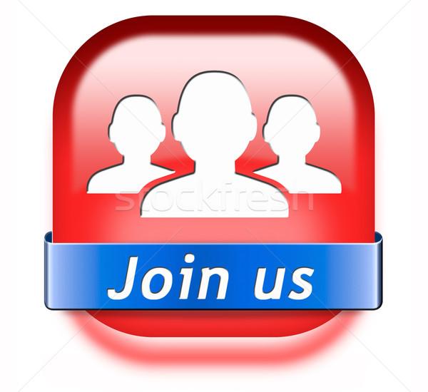 join us button Stock photo © kikkerdirk