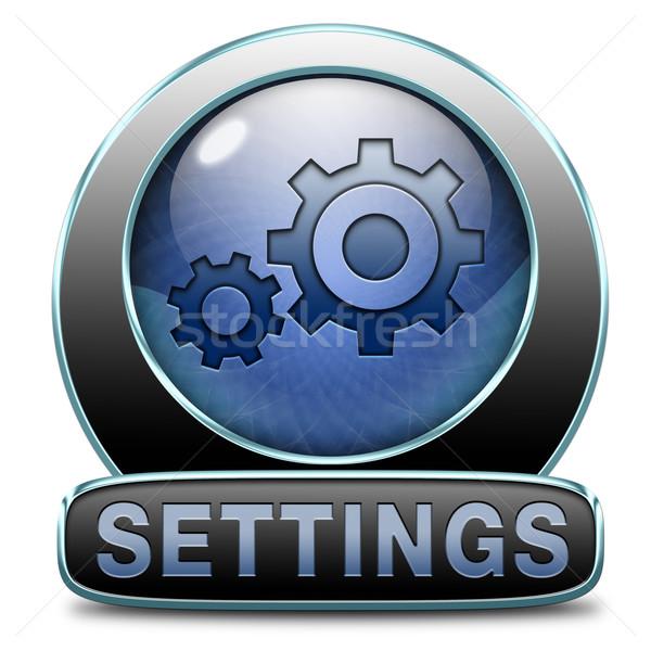 settings icon Stock photo © kikkerdirk