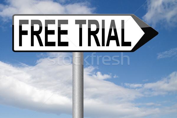 free trial Stock photo © kikkerdirk