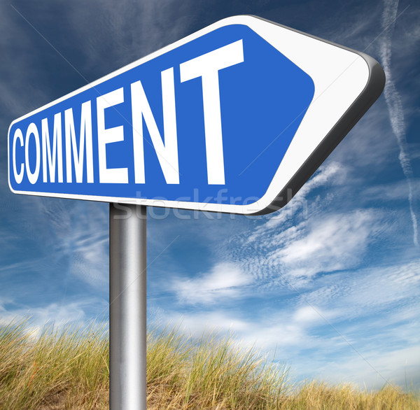Commenter commentaires réaction blog donner Photo stock © kikkerdirk