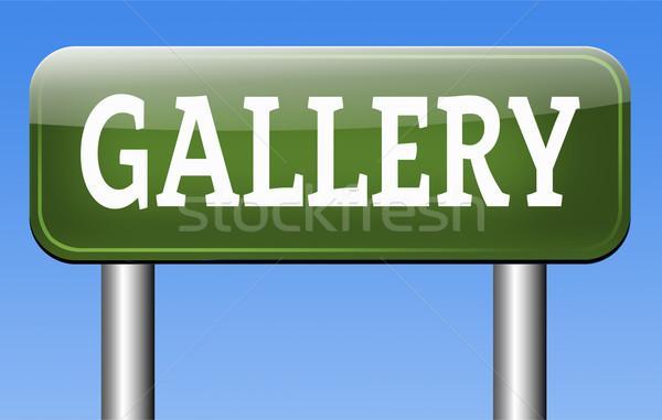 Foto galleria muro immagini foto immagine Foto d'archivio © kikkerdirk