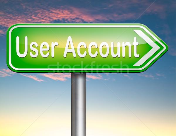 ユーザー アカウント メンバー ナビゲーション オープン ストックフォト © kikkerdirk