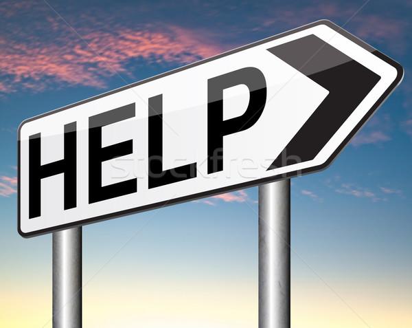 Helpen gezocht me Zoek vinden ondersteuning Stockfoto © kikkerdirk
