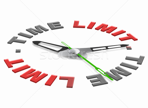 Idő korlát ikon szoros menetrend sürgős Stock fotó © kikkerdirk