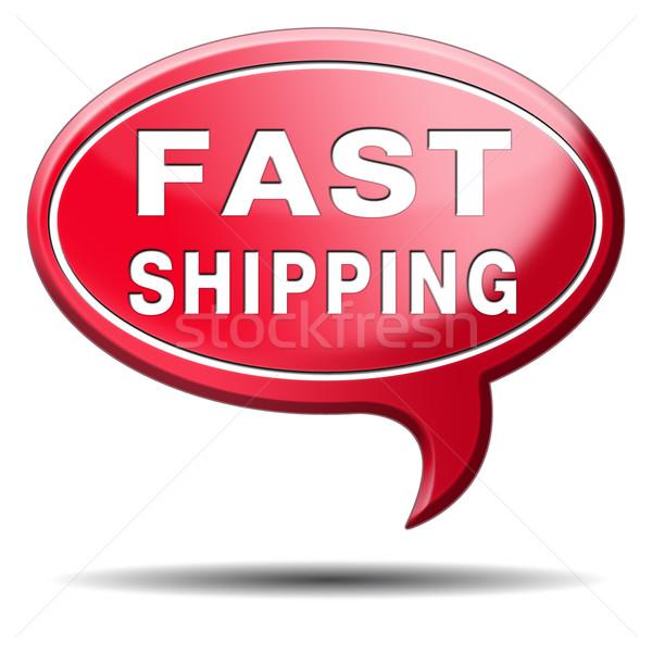 Snel scheepvaart pakketdienst online internet webshop Stockfoto © kikkerdirk