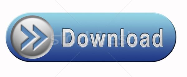 Icône de téléchargement téléchargement musique vidéo film données Photo stock © kikkerdirk