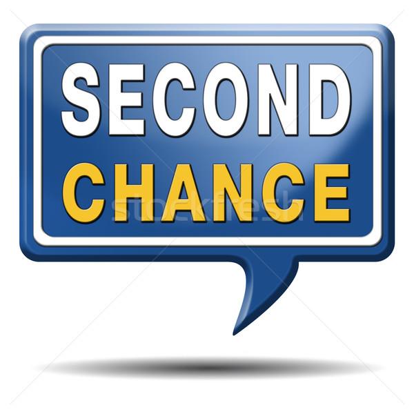 Tweede kans ander nieuwe gelegenheid geven Stockfoto © kikkerdirk