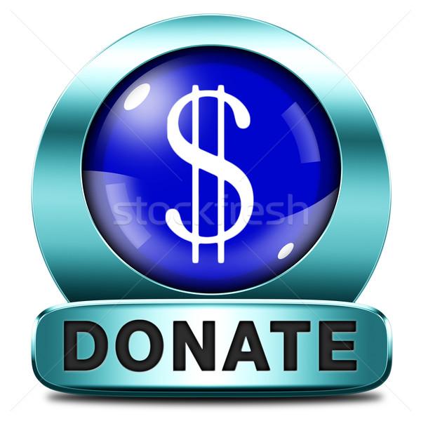 Darować ikona dać dobroczynność pomoc fundusz Zdjęcia stock © kikkerdirk