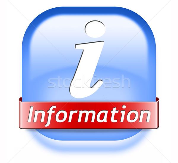 information button Stock photo © kikkerdirk