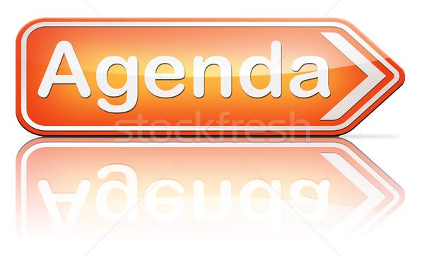 Gündem program iş zamanlamak planlama Stok fotoğraf © kikkerdirk