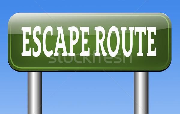 Сток-фото: бежать · маршрут · безопасности · чрезвычайных · выход · подчеркнуть