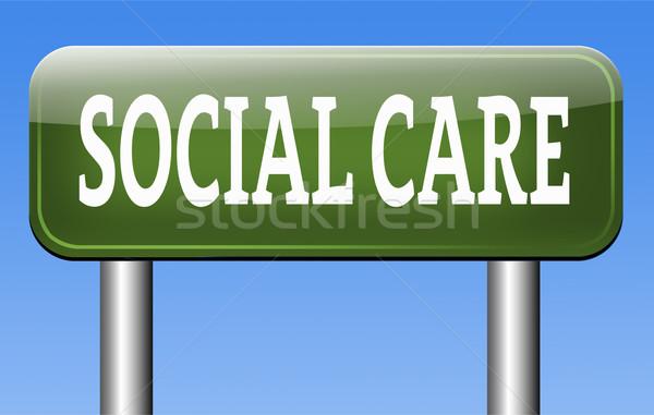 Sociale zorg gezondheid veiligheid gezondheidszorg verzekering Stockfoto © kikkerdirk