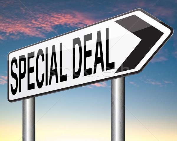 Különleges üzlet akciók nagyszerű eladó ajánlat Stock fotó © kikkerdirk