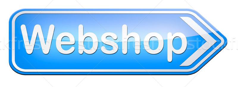 Webshop háló bolt online vásárlás internet bolt Stock fotó © kikkerdirk