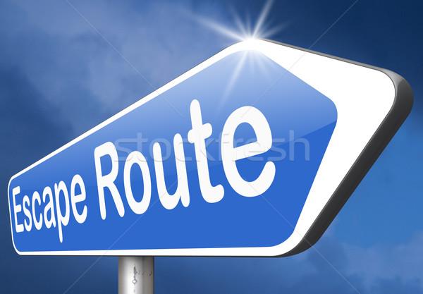 бежать маршрут безопасности подчеркнуть перерыва свободный Сток-фото © kikkerdirk