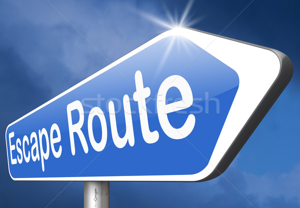 Ontsnappen route veiligheid stress pauze gratis Stockfoto © kikkerdirk