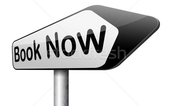 Książki tutaj online bilet rezerwacja teraz Zdjęcia stock © kikkerdirk