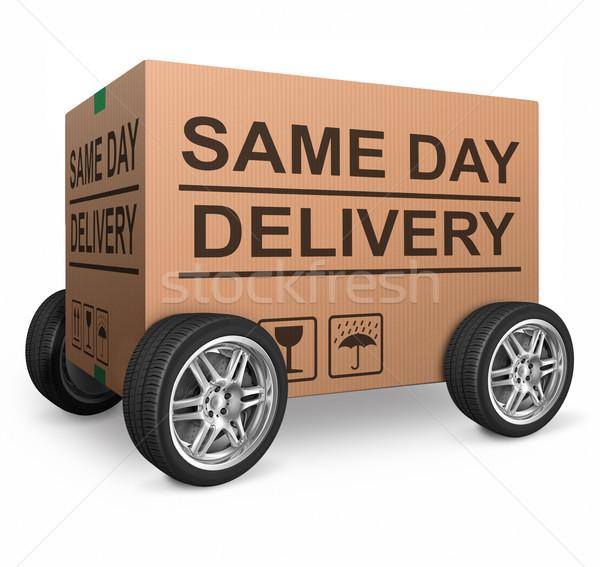Dag levering pakketdienst urgent snel Stockfoto © kikkerdirk