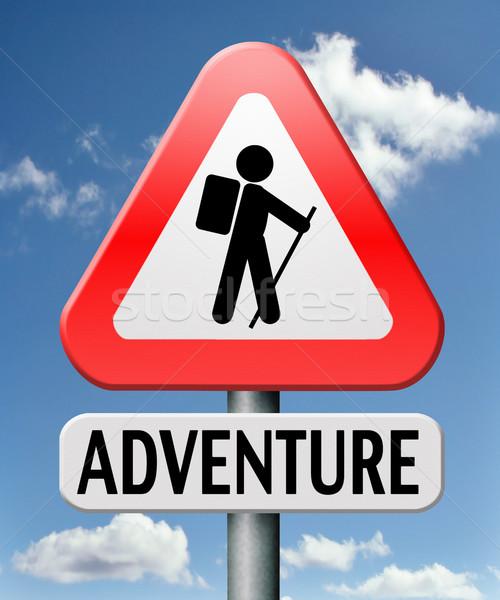 Aventura viajar mundo aventureiro ao ar livre Foto stock © kikkerdirk