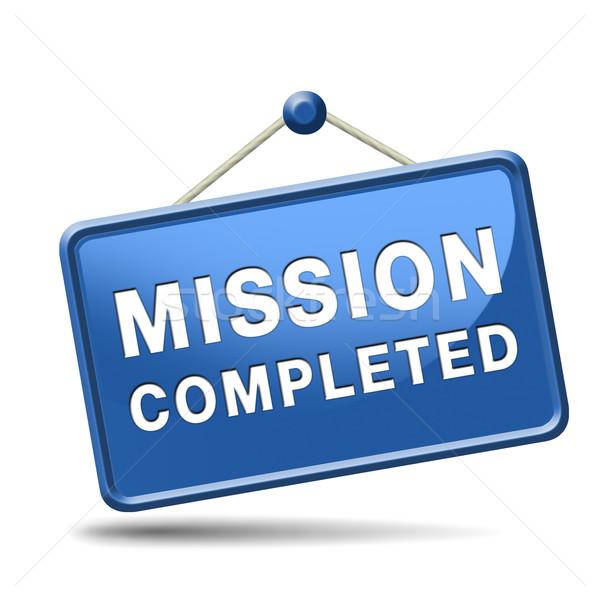 mission completed Stock photo © kikkerdirk