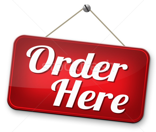 order here Stock photo © kikkerdirk