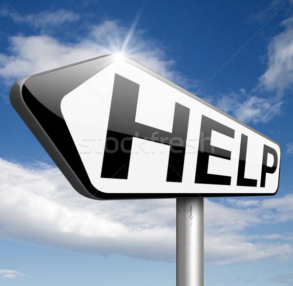 Helpen gezocht kan ondersteuning geven helpende hand Stockfoto © kikkerdirk